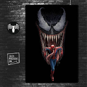 Постер Venom, Веном и Человек-Паук (60x85см)