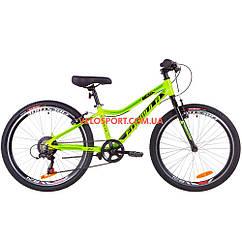 Подростковый велосипед Formula ACID 1.0 rigid 24 дюйма салатно-черный