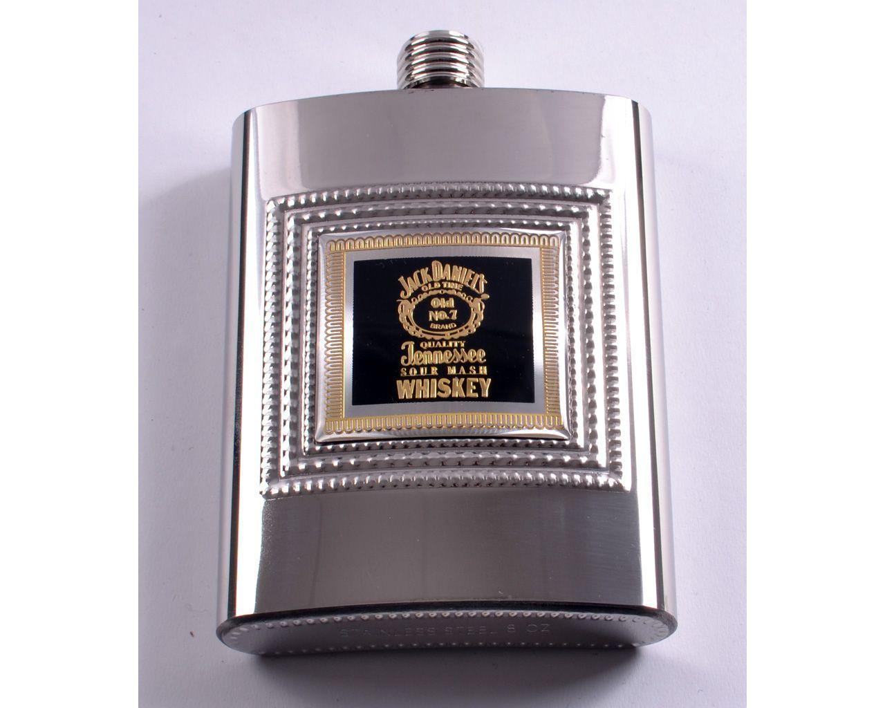 Фляга из нержавеющей стали серебро Whiskey (256мл/9oz)