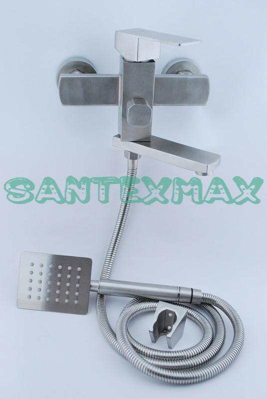 Смеситель для ванны и душа Gerts 7105 из нержавеющей стали