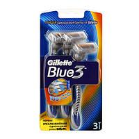 Gillette Blue 3 (3) одноразовые мужские станки для бритья