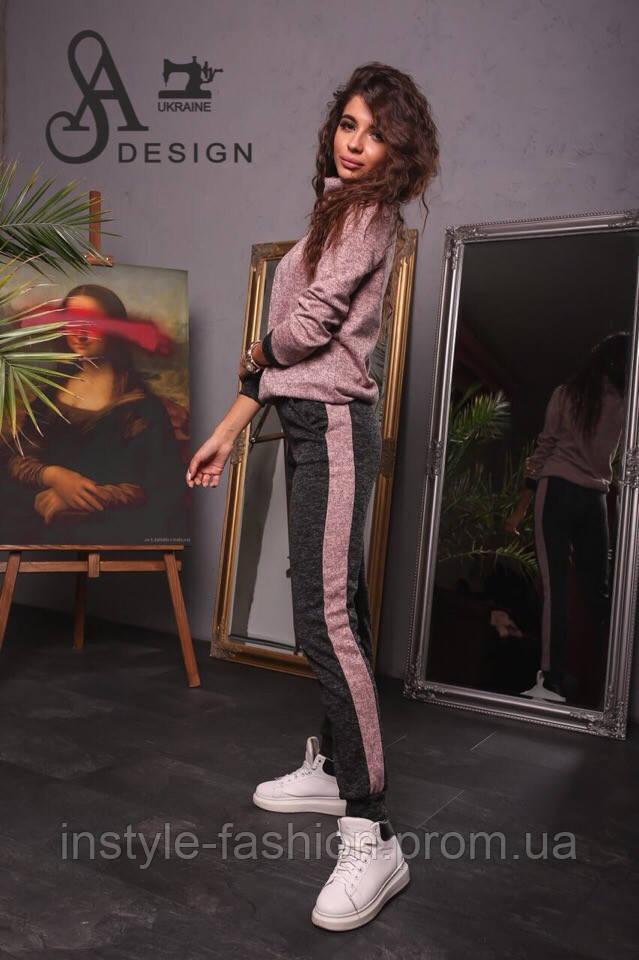 Спортивный женский костюм ткань ангора софт розовый