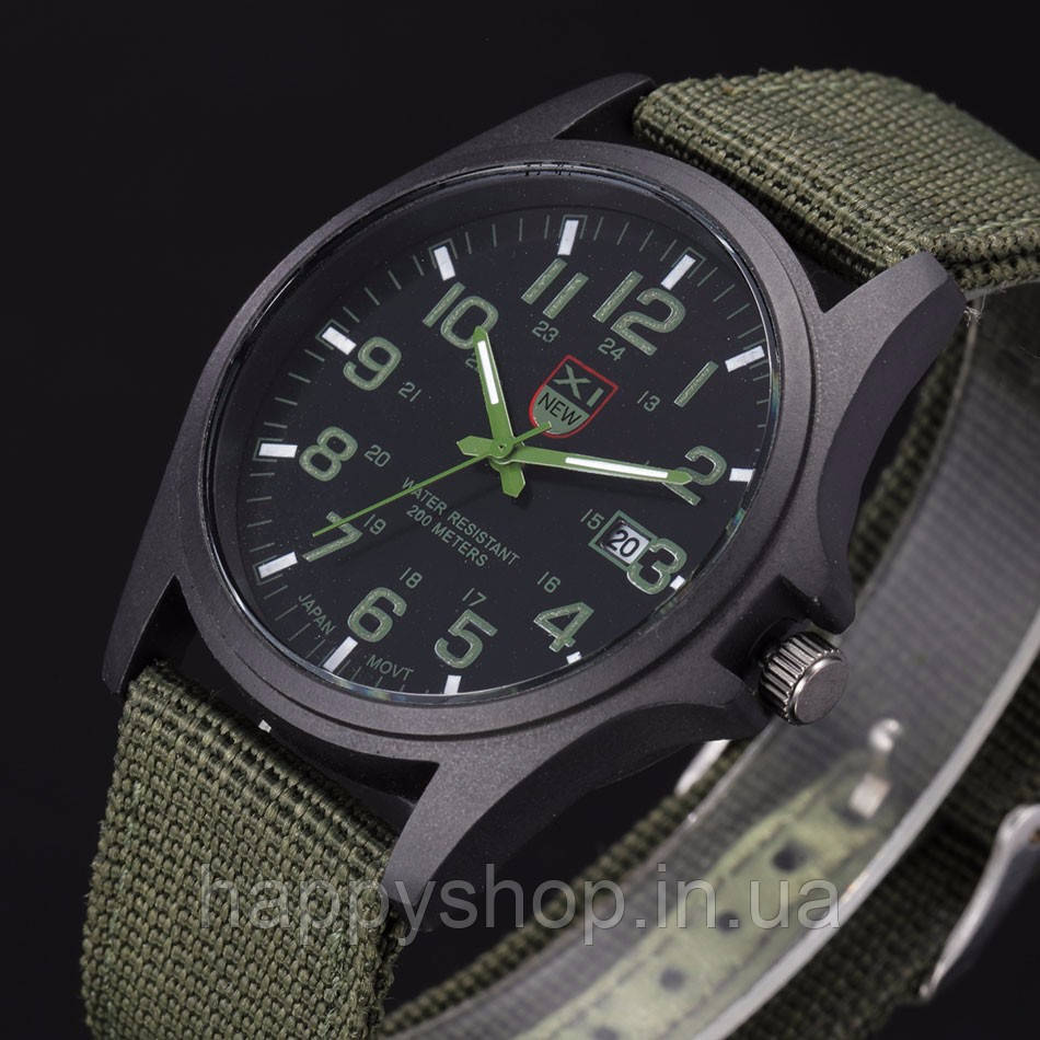Часы мужские кварцевые XINEW (зеленые)