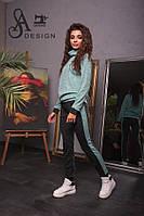 Спортивный женский костюм ткань ангора софт цвет мята, фото 1