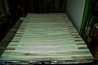 Ковры из овечьх выделанных шкур, ковер с белыми и бежевыми полосами купить в Харькове