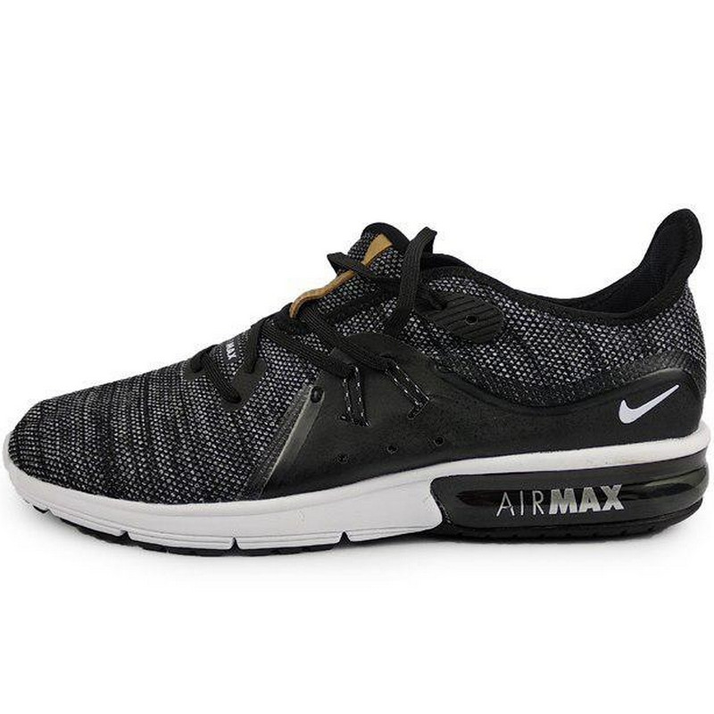 Кроссовки Мужские Nike Air Max Sequent (черные-серые) Top Repliс — в ... a43d322df3c