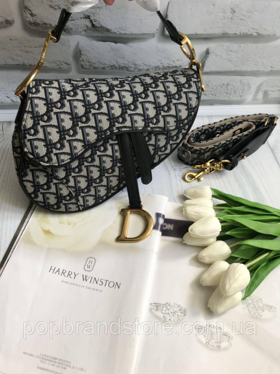 98d28c86bf1a Стильнаяженская сумочка Dior SADDLE BAG (реплика) - Pop Brand Store |  брендовые сумки,