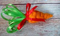 """Брошь/заколка/резинка к карнавальному костюму """"Морковка"""",14 см, фото 1"""