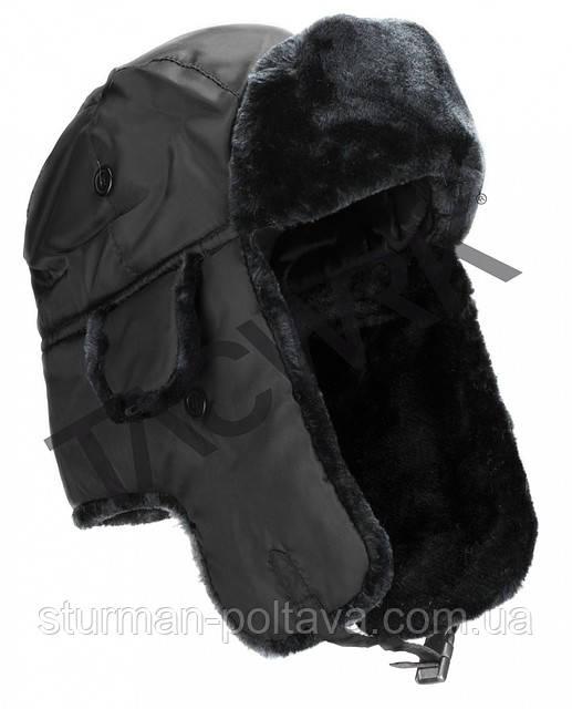 Шапка ушанка армейская  зимняя  черная  PILOTEN-PELZMÜTZE MA1®  MiL-Tec Германия