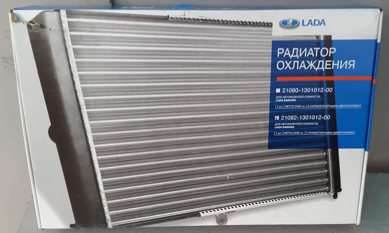 Радиатор вод. охлаждения ВАЗ 21082 инж. (алюм.) (пр-во ОАТ ДААЗ Россия)