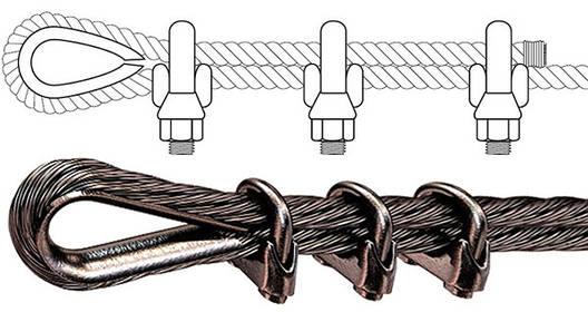 Зажим для троса 5 мм нержавіюча сталь, фото 2