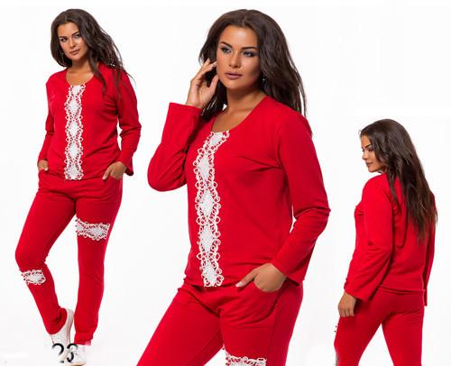 Красивый батальный спортивный костюм красный с белым 824023