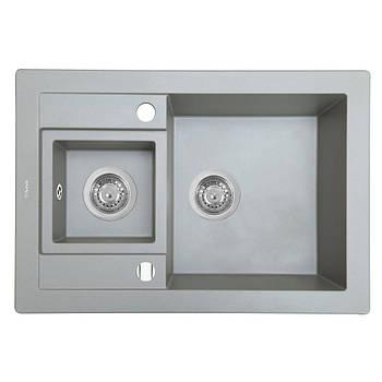 Кухонная мойка Perfelli Granze PGG 5061-67 Grey Metallic