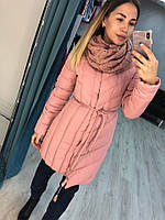 Женская куртка евро зима на синтепоне по колено