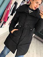 Женская куртка евро зима на синтепоне с утяжкой на поясе