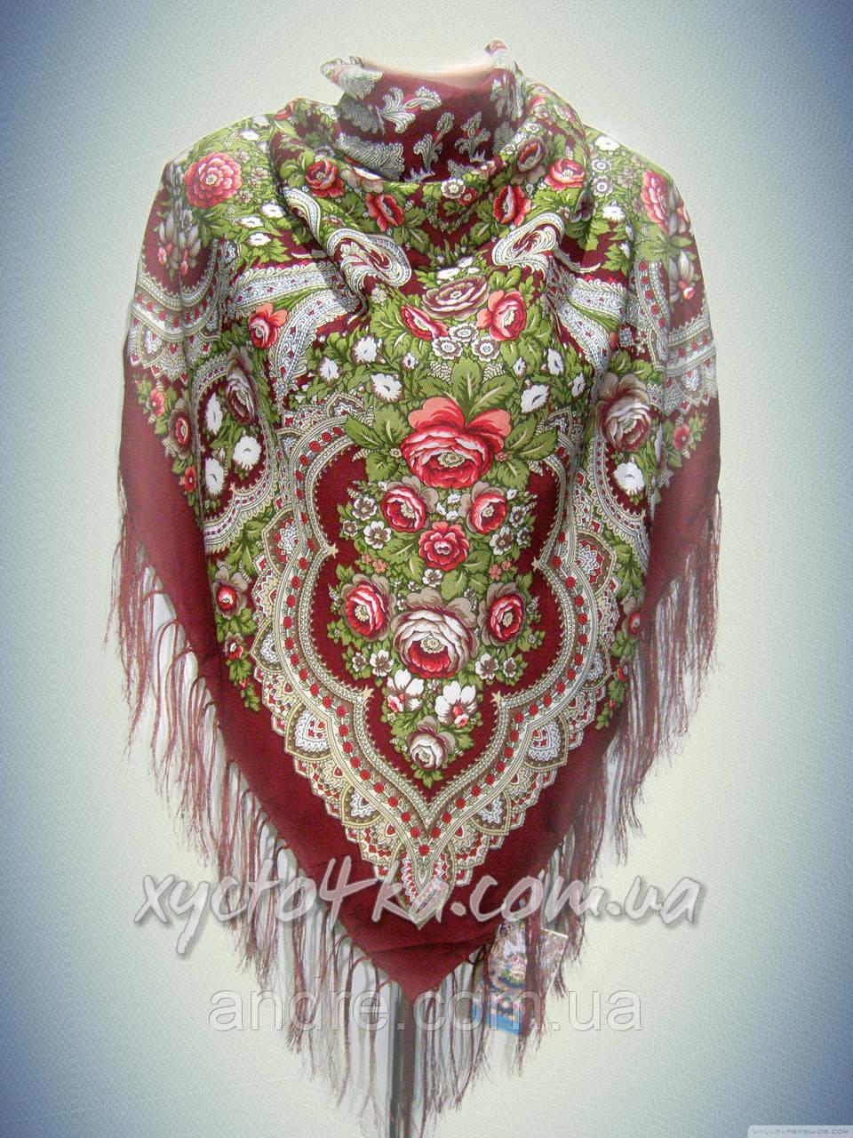 Шерстяной платок платок, бордовый
