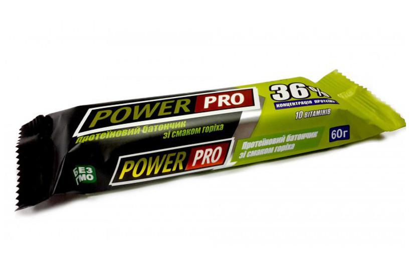 Протеїновий батончик Power Pro Bar 36% 60g. (ГОРІХ)