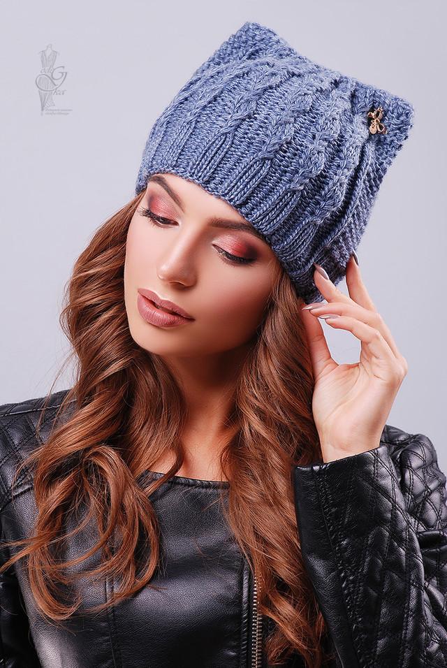 Цвет Джинс Вязаных женских шапок Кэти