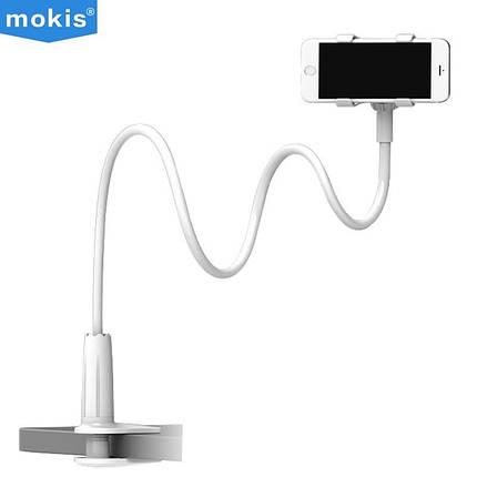 Гибкий механический держатель/подставка для смартфона Mokis M-Z05 (Белый), фото 2