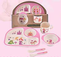 Набор детской бамбуковой посуды Принцесса