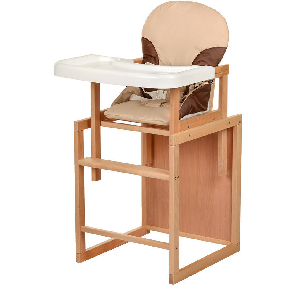 Стульчик для кормления деревяный BAMBI CH-L5, бежевый ***