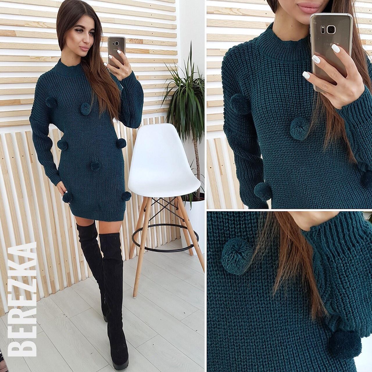 Теплое Зимнее платье туника (РАЗНЫЕ РАСЦВЕТКИ)  продажа, цена в ... a0bab6c0329