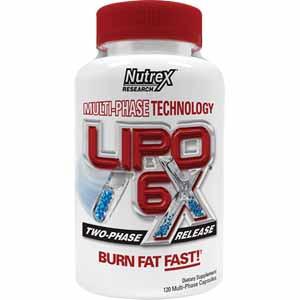 Жиросжигатель Lipo-6X (120 капс.) NUTREX