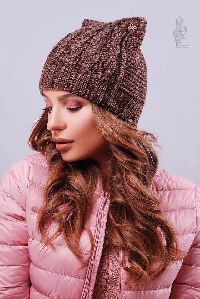 Фото Вязаных женских шапок Кэти-1