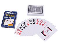 Карты пластиковые Texas Poker (Черная рубашка) 54 шт.