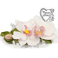 Стріла орхідея з фоамирана ручної роботи для волосся
