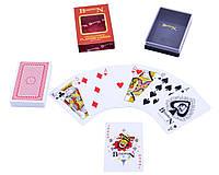 Карты игральные пластиковые  Bosswin (Красная рубашка)  54 шт.