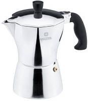 Завтра - 10 % Кофеварка гейзерная 165 мл на 3 чашки Vinzer Moka Aroma 89388 из алюминия, кофейник