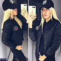 """Куртка женская (42-44; 44-46) Куртка женская осенняя """"""""fashion sport""""; Цвет - черный, красный, хаки; Ткань - плащевка + синтепон 150; Низ и рукава на"""
