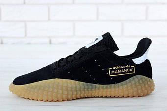 """Мужские кроссовки Adidas Kamanda """"Black/Brown"""" (люкс копия)"""