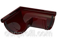 Кут жолоба 120 мм зовнішній 90 градусів коричневий червоний
