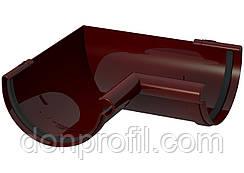 Кут жолоба 120 мм внутрішній 90 градусів коричневий червоний