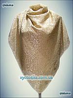 Велюровый платок бежевый