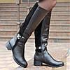 Женские кожаные зимние сапожки сапоги замшевые (код 3562)