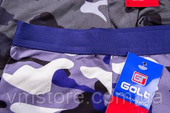 Мужское белье камуфляж широкая мягкая резинка яркие Golt, 3326, фото 2