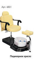 Педикюрное кресло черное Х 6821bl
