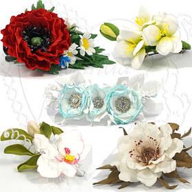 Штучні квіти з Фоамирана у волосся