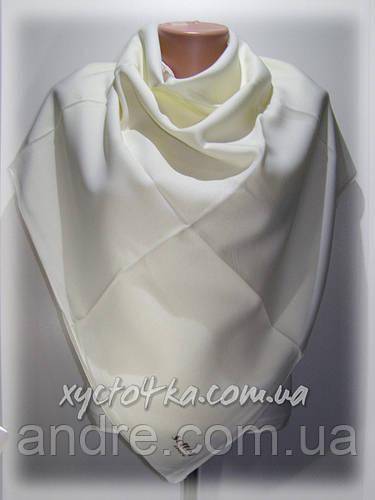 Однотонный кашемировый платок Софтел, молочный