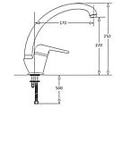 Одно-рычажный кухонный смеситель Fabiano FKM 34 нержавеющая сталь, фото 5