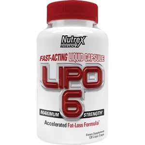Жиросжигатель Lipo-6 maximum strength (120 капс.) NUTREX