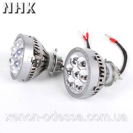 LED прожекторы дальнего света с Дьявольскими глазами / NHK LED High Beam projector lens 5000K + Devil Eyes, фото 2