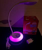 Настольная LED RGD лампа 5W сенсорная, встроенный аккумулятор(белая), фото 1