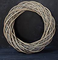 Венок из лозы серый 40 см, фото 1