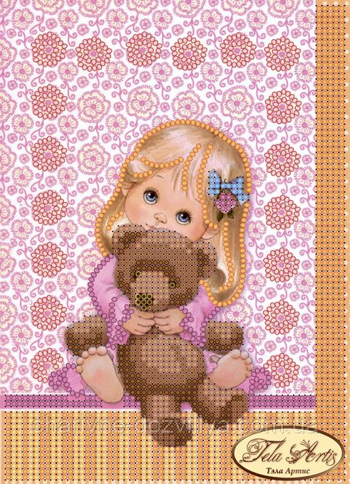 Схема для вышивки бисером Любимая игрушка