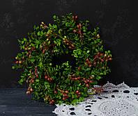 Венок из зелени искусственной 30 см, фото 1