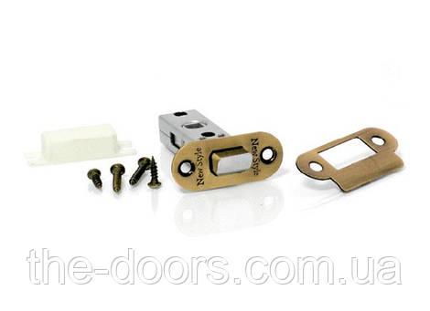 Дверная защелка овальная NS 100-AB/бронза